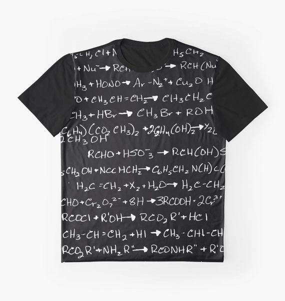 Chimie organique contraste T-Shirt femme homme par JUST3Js sur Etsy