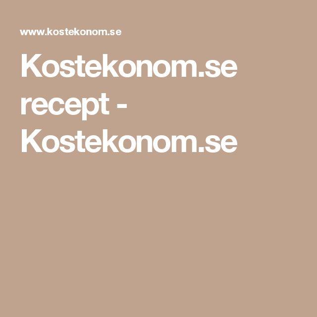 Kostekonom.se recept - Kostekonom.se