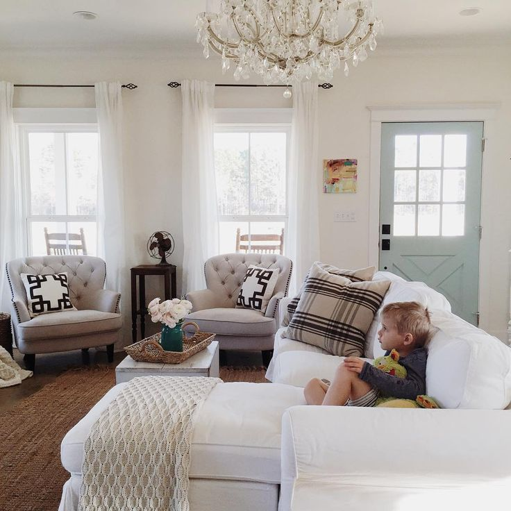 Brittany York's living room is always the perfect mix of rustic and feminine