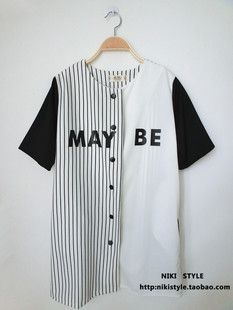 Taobao Japanese baseball jersey hip hop HIPHOP JAZZ BF style baseball jacket baseball sleeved cardigan hip-hop harajuku styleuvxsnoskmih from English Agent:BuyChina.com ($18.00) - Svpply
