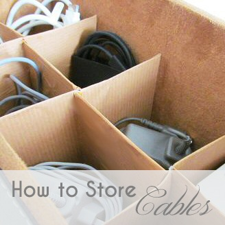 A Typical English Home: Cable Storage Version 1.0 - divided box