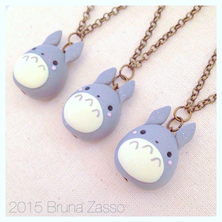 Totoro necklace ~ Cute tonarinototoroMiyazaki Ghibli Fimo Polymer Clay Necklace Kawaii My Neighbor Totoro by BrunaZassou on Etsy https://www.etsy.com/listing/237818838/totoro-necklace-cute