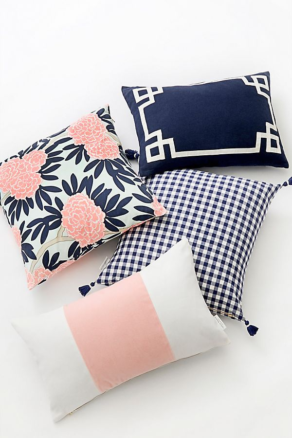 Caitlin Wilson Navy Fleur Chinoise Pillow In 2019 Blush