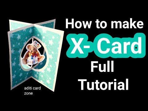 (6) X-Card Tutorial | Friendship day card ideas | Handmade card tutorial | Raksha bandhan card ideas | - YouTube