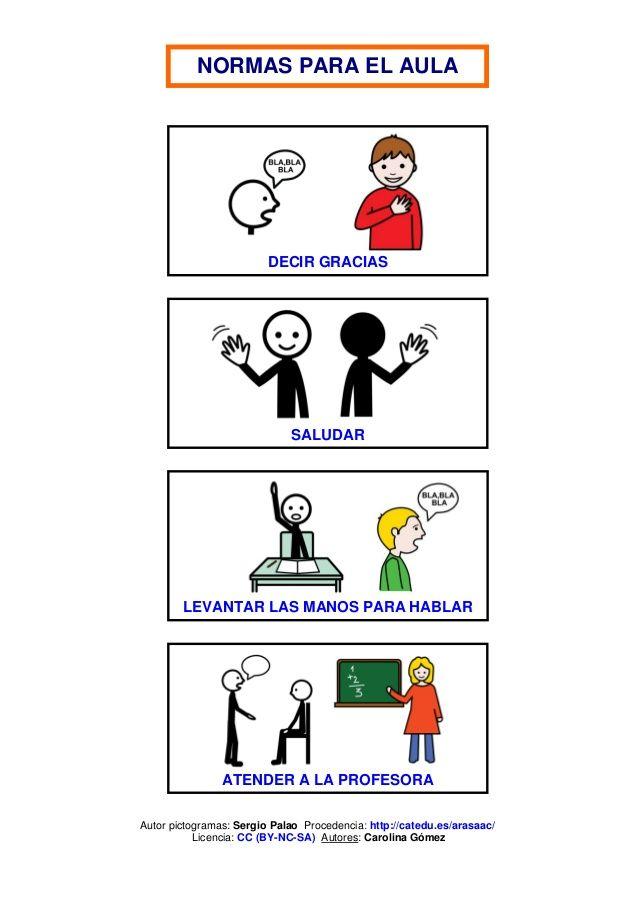 normas de clase con pictogramas - Buscar con Google