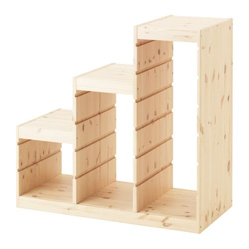 TROFAST Frame, light white stained pine pine 37x17 3/8x35 7/8   Do not fully assemble, for laundry baskets!