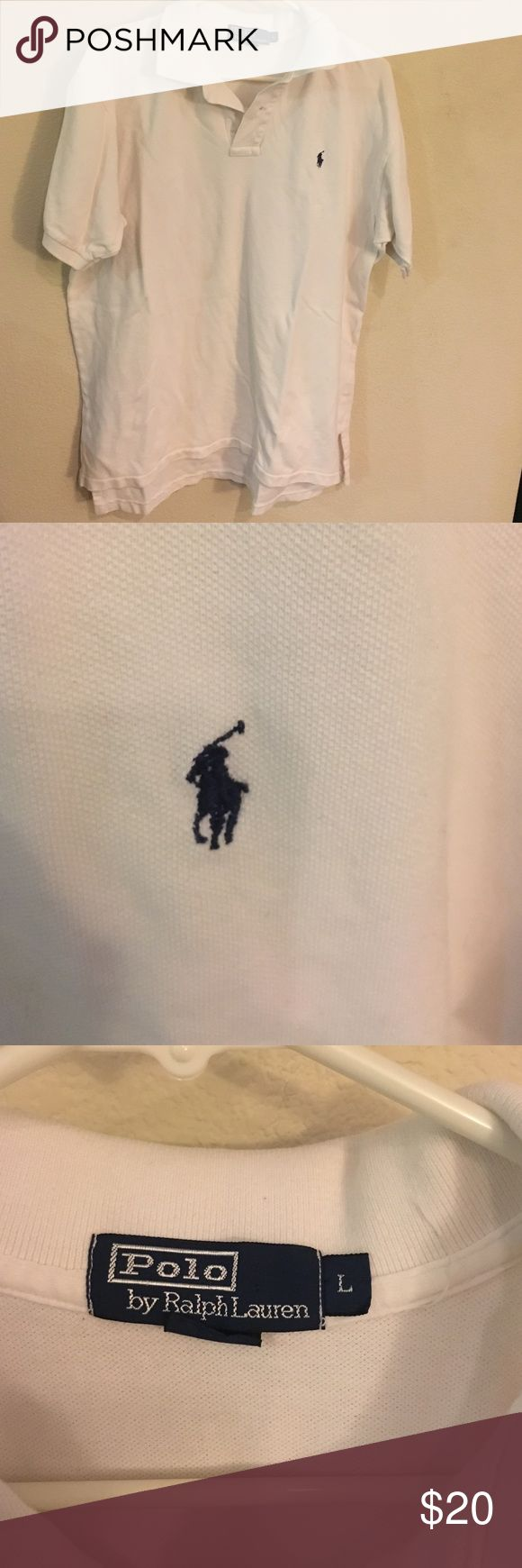 Polo by Ralph Lauren White Polo Shirt While Polo by Ralph Lauren Shirt! Size Large Polo by Ralph Lauren Shirts Polos