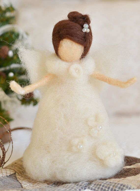 AnnaBelle Needle Felted Angel from The Felted by thefeltedcottage, $70.00 Cynthia Foust Wolfe Design