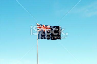 New Zealand's Flag Royalty Free Stock Photo