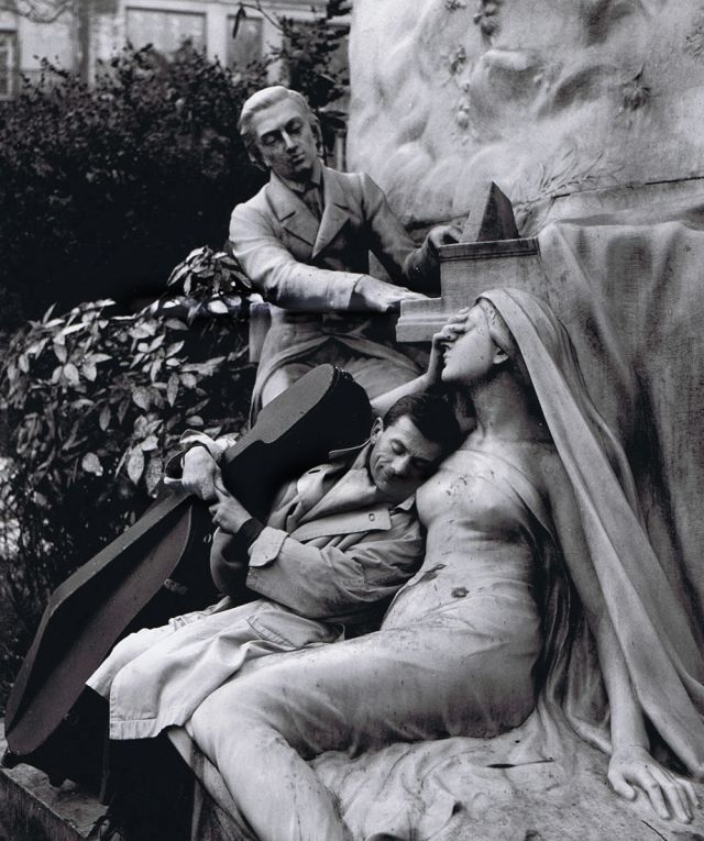 Maurice Baquet, Chopin and his Muse by Robert Doisneau, 1950s