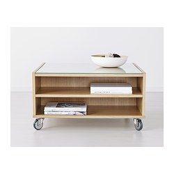 boksel coffee table oak veneer ikea - Table A Roulette Ikea