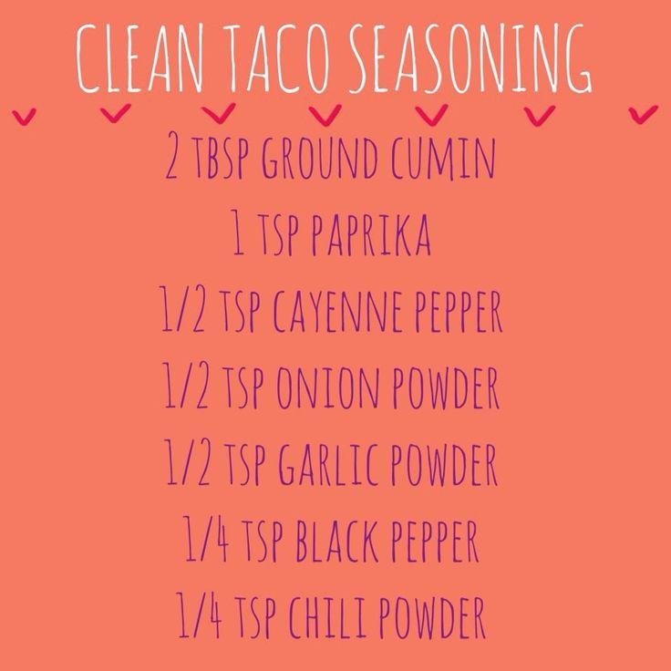Salt free clean taco seasoning