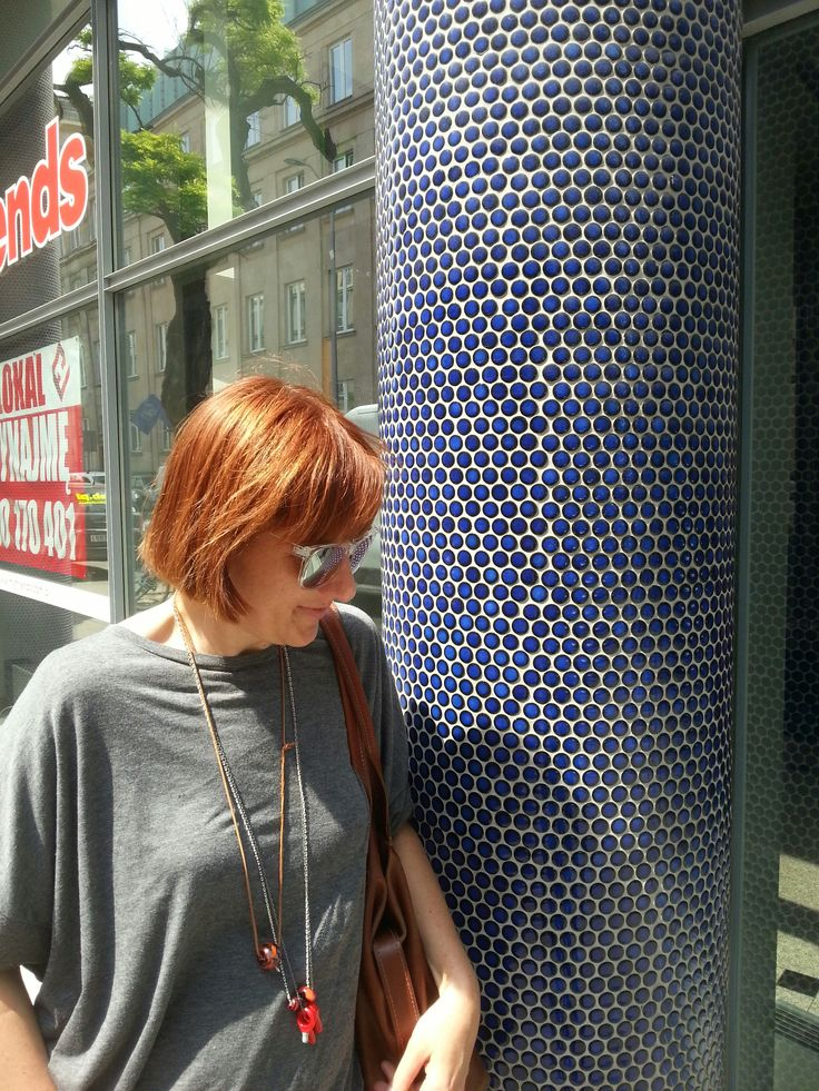 Deliciously azure blue mosaic in the centre of Warsaw. Just the color made me stop.
