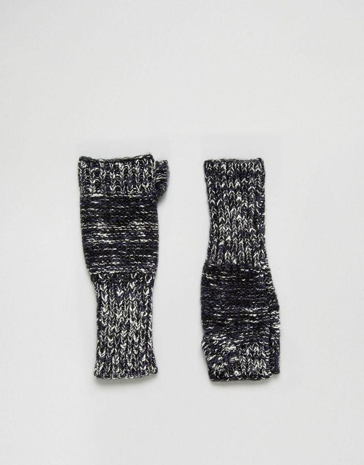Genie by Eugenia Kim Stef Navy Fingerless Gloves - Navy