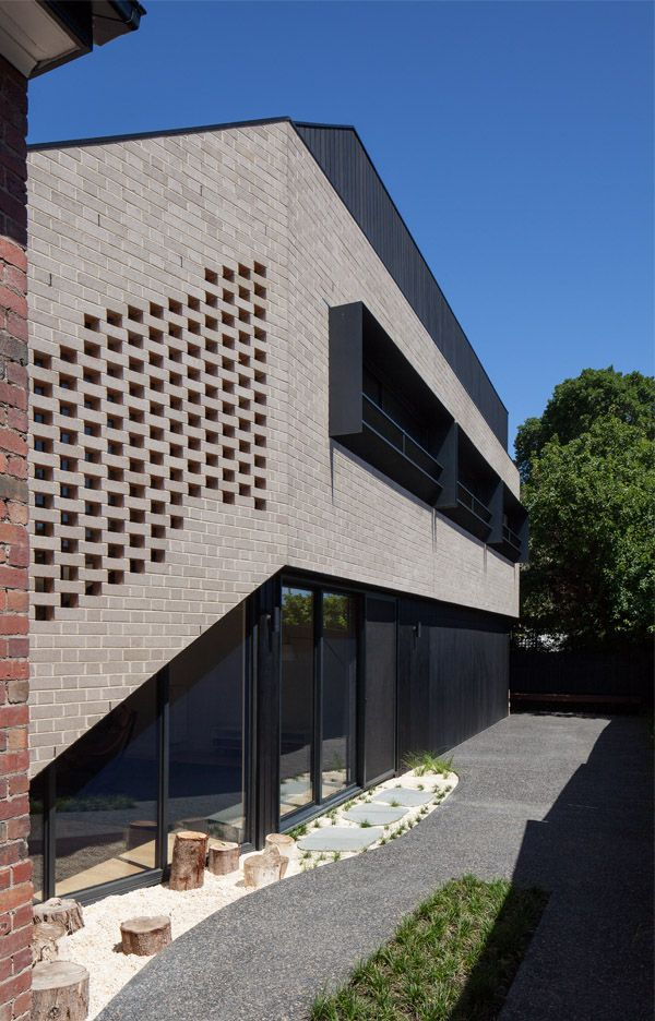 Richmond Hill House by Rachcoff Vella Architecture | Australian Design Review | Photo by Tatjana Plitt  #Architecture #Brick #Grey