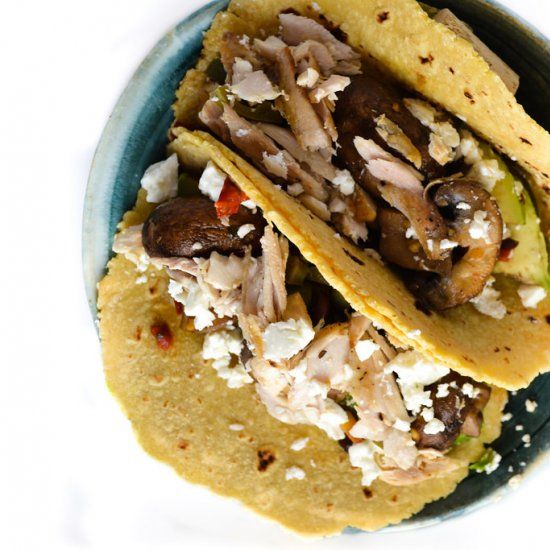 Spicy mahi mahi tacos are great for a weeknight dinner!