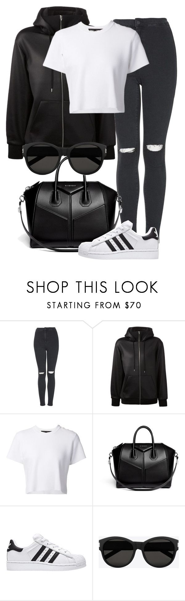"""""""Untitled #1930"""" by annielizjung ❤ liked on Polyvore featuring Topshop, T By Alexander Wang, Proenza Schouler, Givenchy and Yves Saint Laurent"""