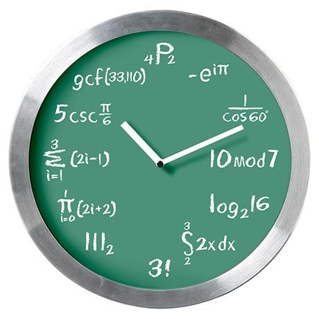 MATHEMATICAL EXPRESSIONS CLOCK at What on Earth   CF6786
