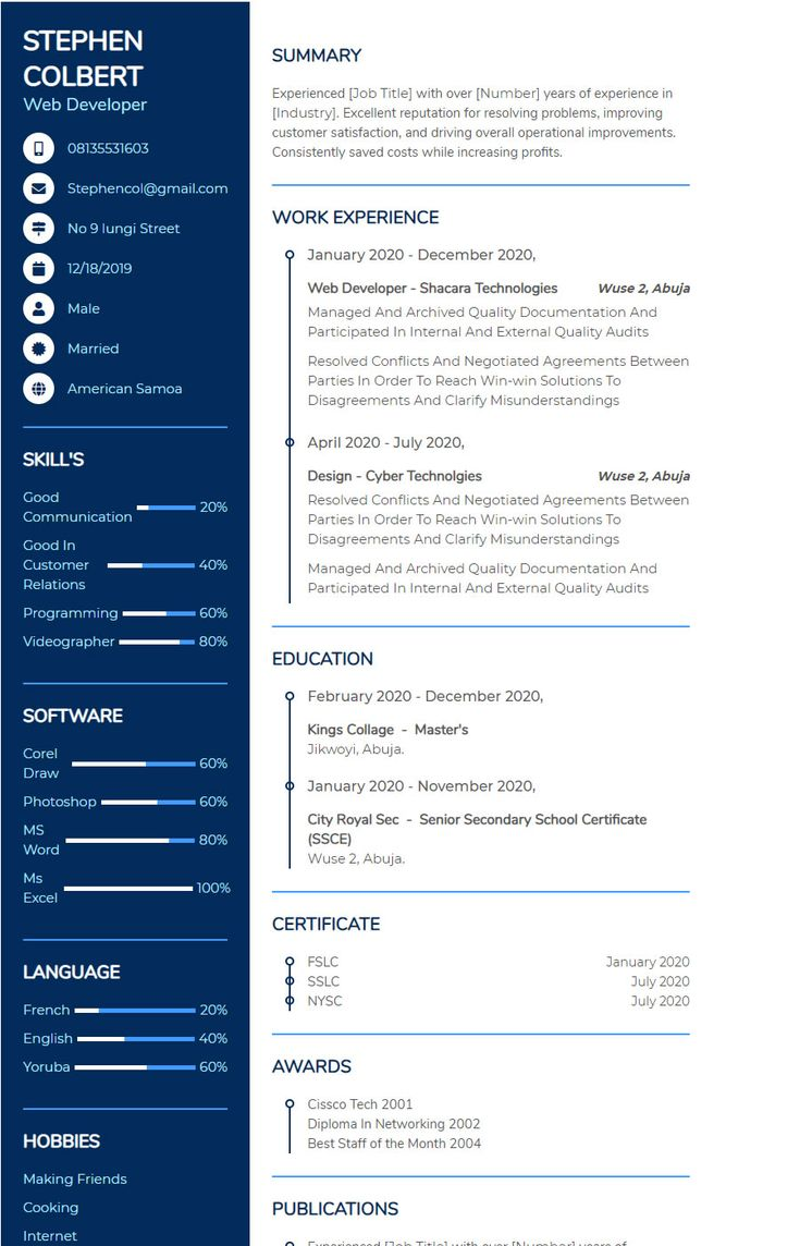 Pin by shacara on resume and cover letter in 2021 online