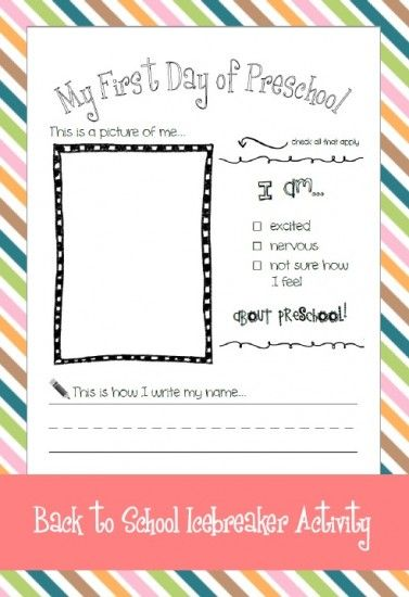 Back To School Activity - Pinned by @PediaStaff – Please Visit ht.ly/63sNtfor all our pediatric therapy pins