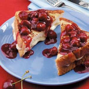 Special Stuffed French Toast  For a breakfast or brunch sensation, whip up this dish showcasing cherries. The golden-brown Texas toast is delectable with cream cheese tucked between thick slices. The sweet-tart cherry sauce make a pretty and flavorful topping.