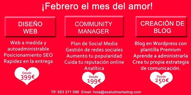 Estamos en el mes del amor! Y en ESMA hemos decido, hacer una promoción irresistible, para que formes parte de la #saludigital #esalud #marketingsanitario #clinicas #salud