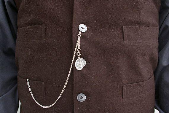 2b1e84751052 Single Albert Pocket Watch Chain with Drop - Silver-Tone | jesse | Pocket  watch, Watches, Watch display