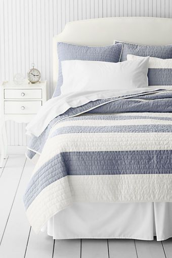 Stripe Quilt or Sham from Lands' End. $150