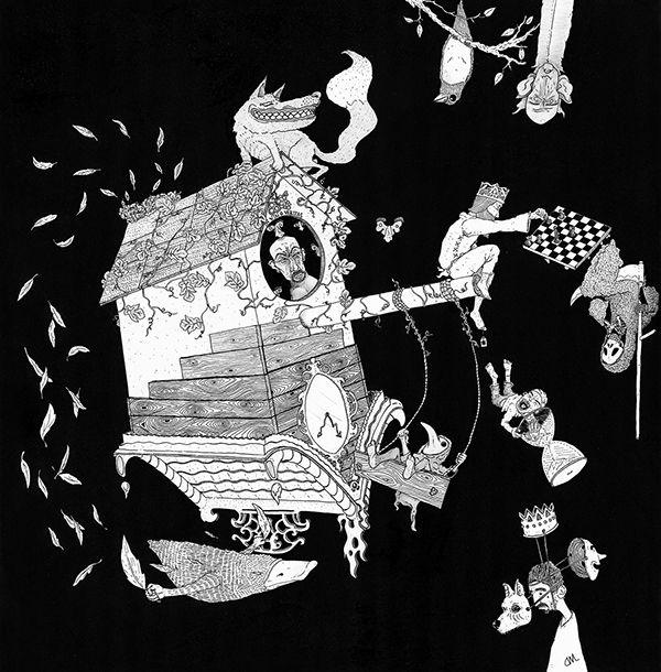 IN VINA VERITAS illustration by @DarioMerlo https://www.behance.net/gallery/49862189/IN-VINO-VERITAS