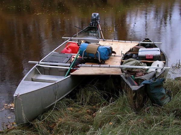 Outboard Motor Canoe Bracket