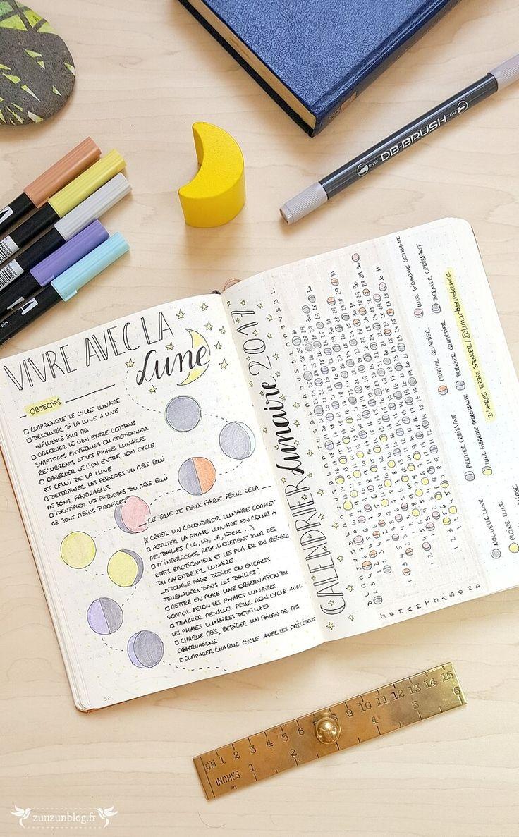 Moon Calendar Bullet Journal