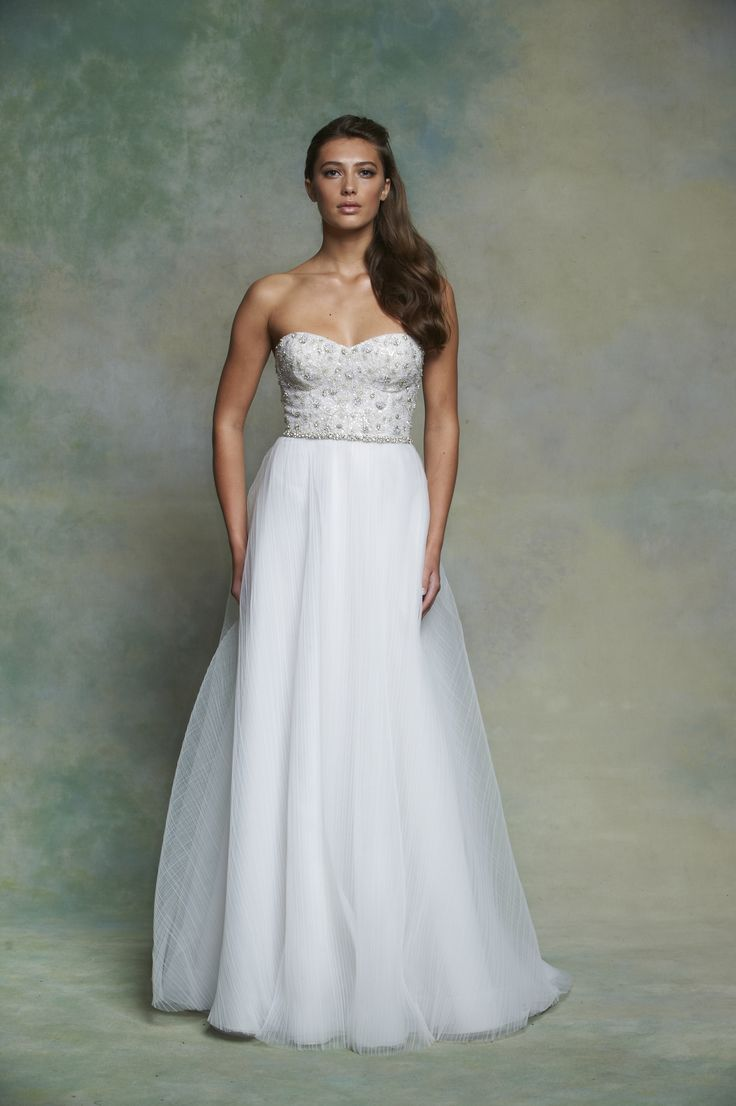 Low Back Flowy Wedding Dress : Bridal fashion wedding dressses flowy skirt low back lori forward