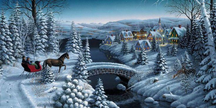 Paisaje navide o encabezado para twitter encabezados - Paisaje nevado navidad ...