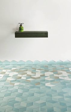 Cool #tiles for a bathroom or spa.