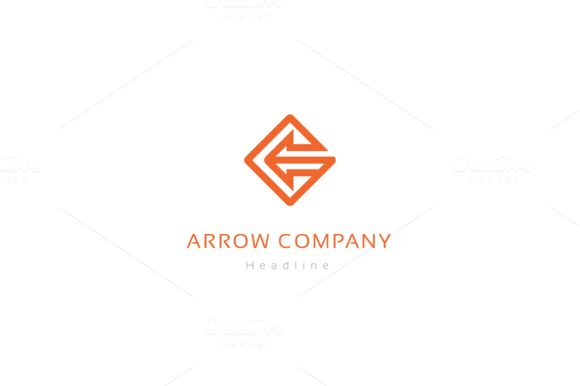 Arrow company logo. by anton.akhmatov on @creativemarket