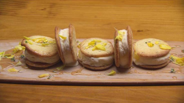 Lemon & Thyme Ice Cream Sandwiches Semifreddo, Masterchef Australia