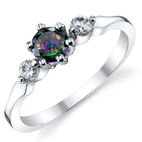 rings multicolor set gold channel carat white rainbow pin gemstone diamond sapphire ring engagement