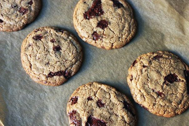 Whole wheat chocolate chip cookies (this recipe uses only WW flour instead of combining with all purpose flour)