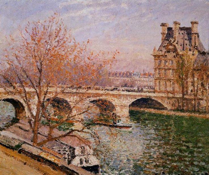 Camille Pissarro  - The Pont Royal and the Pavillion de Flore, 1903