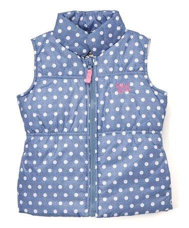 Love this Chambray Polka Dot Puffer Vest - Infant, Kids & Tween on #zulily! #zulilyfinds