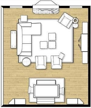 Ok, this is a large room(19x20!) but still...ideas! How To Arrange Furniture In A Family Room by alhely
