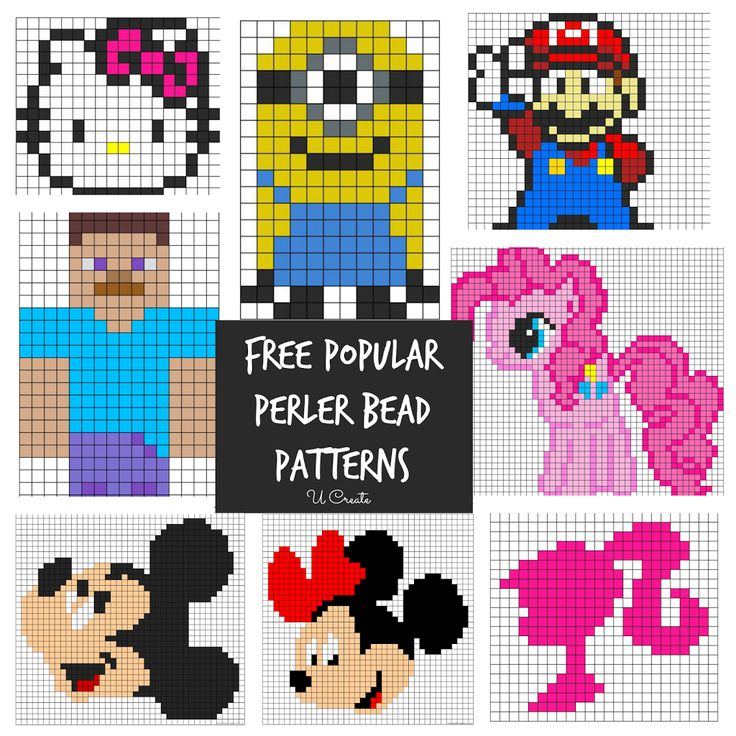 All kinds of characters - this will be fun! Free Popular Perler Bead Patterns - u-createcrafts.com