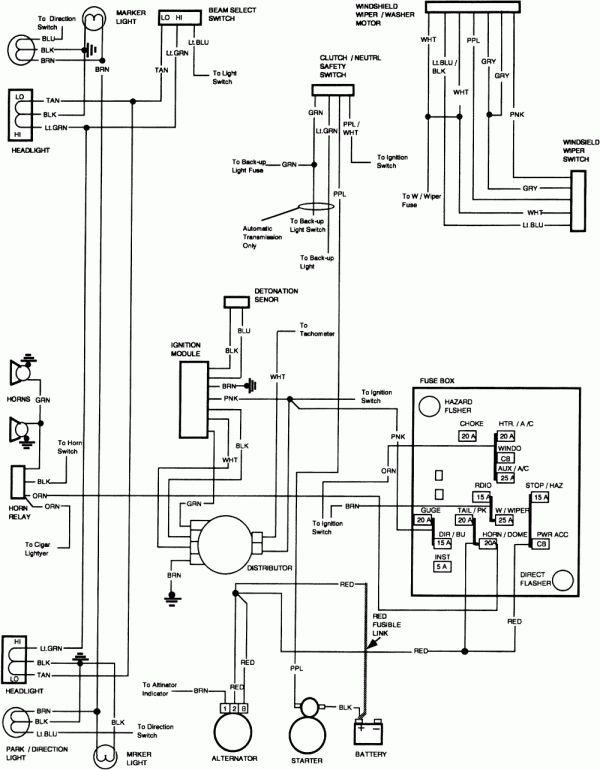 18 1986 chevy truck wiper motor wiring diagram  truck