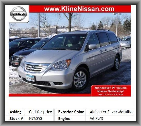 2010 Honda Odyssey EX-L w/DVD Mini-Van   Curb Weight: 4, Remote Power Door Locks, Fuel Consumption: Highway: 25 Mpg, Heated Passenger Mirror, Roof Rails, Power Remote Trunk Release, Cruise Controls On Steering Wheel, Power Windows, Remote Window Operation, Gross Vehicle Weight: 5, Driver Heated-Seatback, Four-Wheel Independent Suspension, Heated Driver Mirror, Anti-Theft Alarm System, Instrumentation: Low Fuel Level, Strut Front Suspension, Coil Front Spring,