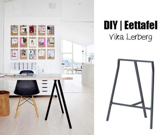 DIY eettafel met Vika Lerberg schragen  DIY dinner table with Vika Lerberg (Dutch)