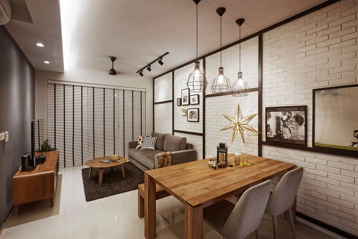 Arc @ Tampines, Industrial Condominium Interior Design, Living & Dining Room