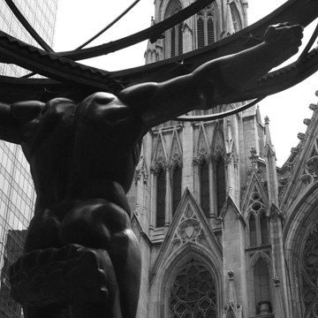 Rockefeller Center St. Patrick's Cathedral by BeCoPhotography