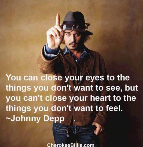 Johnny Depp, modern sage.
