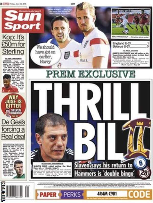 Friday's Sun back page