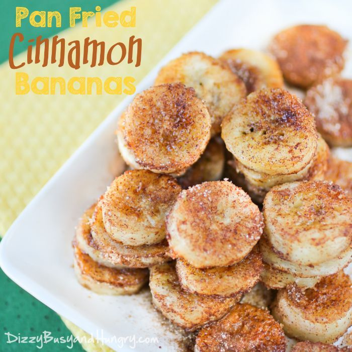 Pan Fried Cinnamon Bananas   DizzyBusyandHungry.com - Quick and easy recipe for overripe bananas, perfect for a special breakfast or an afternoon snack!